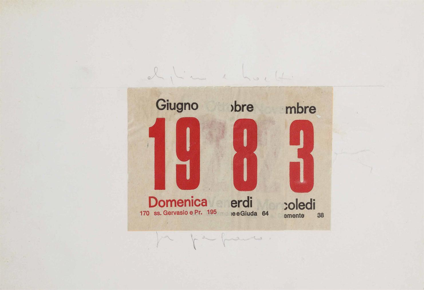 Alighiero Boetti-Calendario (Calendar)-1983