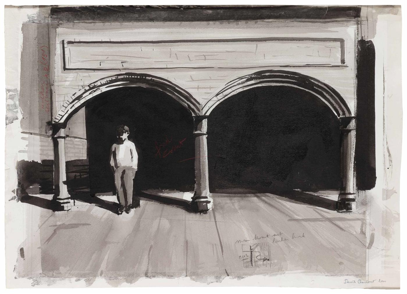 David Claerbout-Man Under Arches (Study)-2000