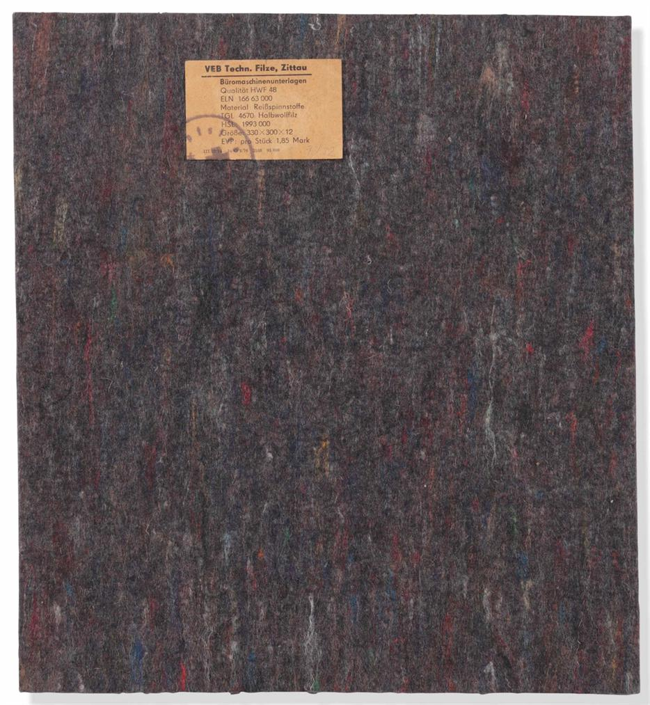 Joseph Beuys-Ddr-Filz (Gdr Felt)-1979