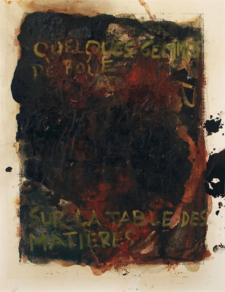 Serge Vandercam-Quelques Gemmes De Boue Sur La Table Des Matieres (Some Gems Of Mud On The Table Of Contents)-1958