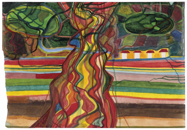 Franz Ackermann-Untitled (Mental Map: Around 1920)-1994