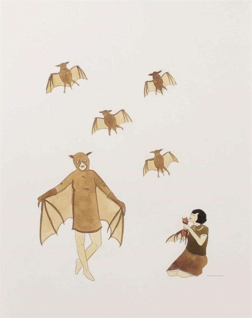 Marcel Dzama-Bat Lady-2006