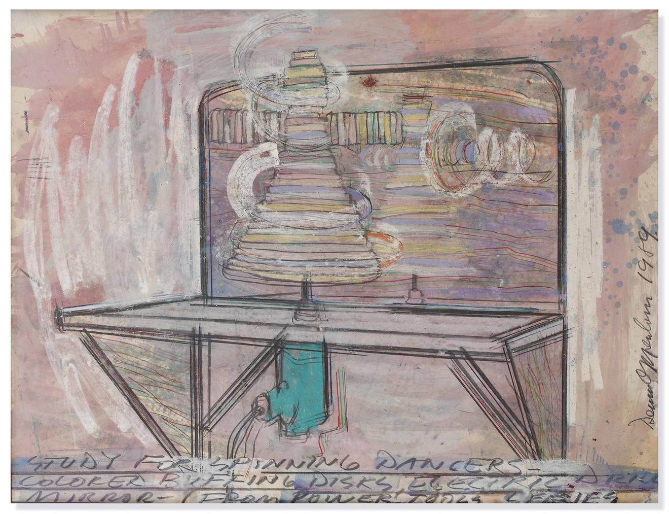Dennis Oppenheim-Study For Spinning Dancers-1989