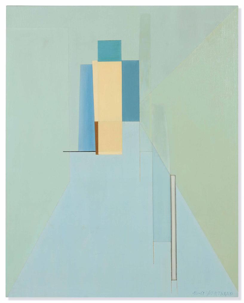 Gaston Bertrand-Composition Verticale ? 186 (Vertical Composition ? 186)-1961