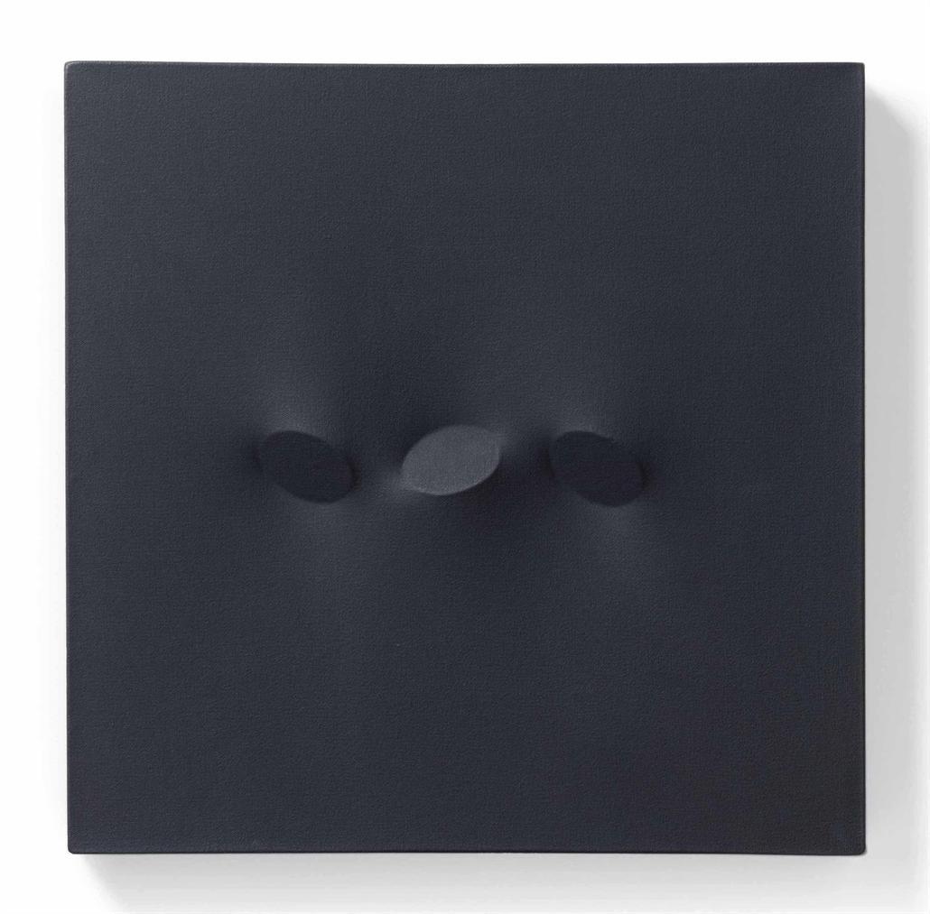 Turi Simeti-Tre Ovali Neri (Three Black Ovals)-1994
