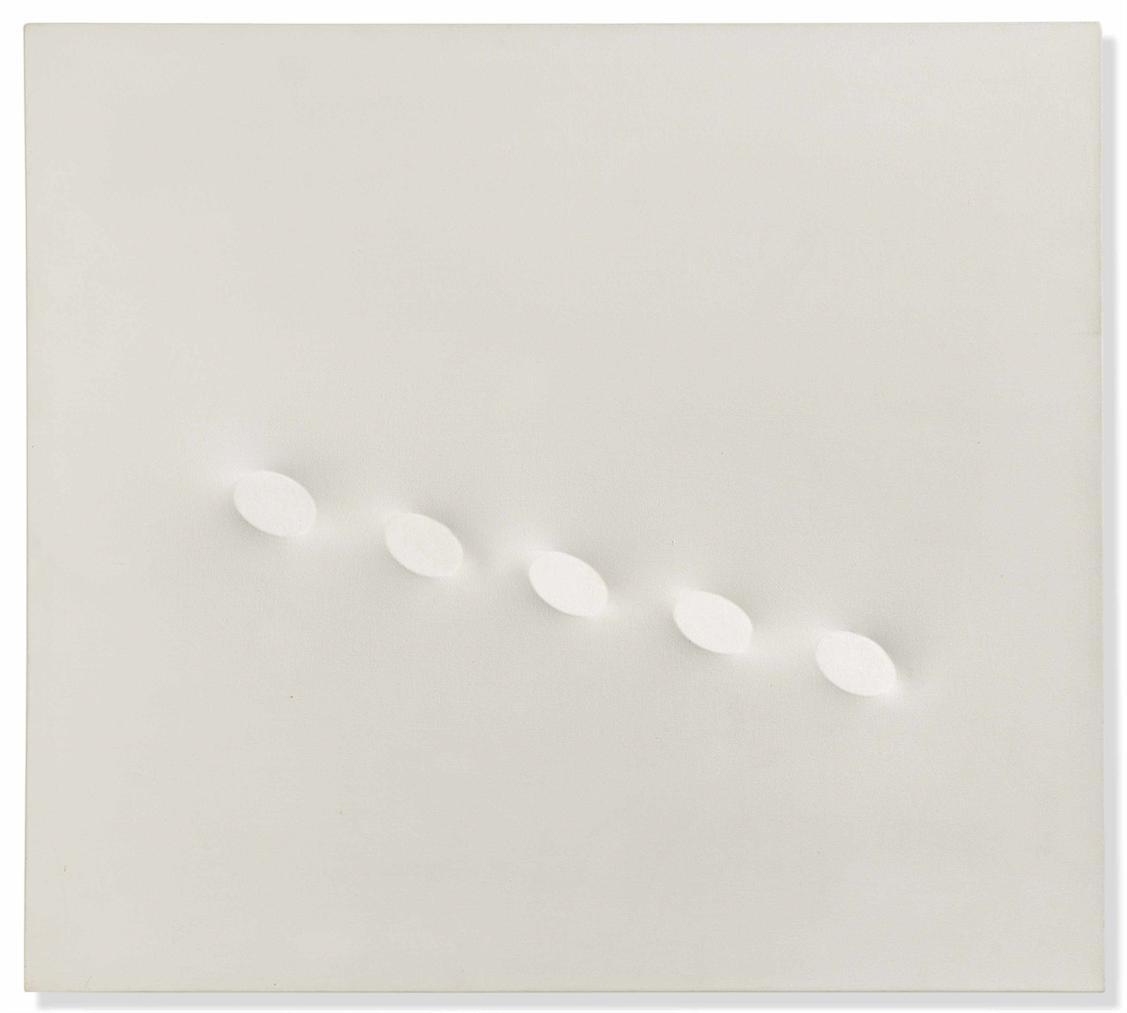 Turi Simeti-Cinque Ovali Bianchi (Five White Ovals)-1995