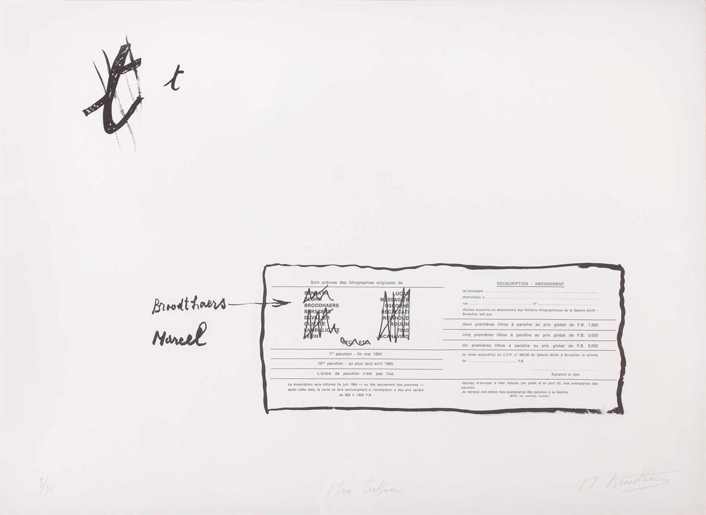 Marcel Broodthaers-La Faute Dorthographe (Mea Culpa) (The Spelling Mistake (Mea Culpa))-1964