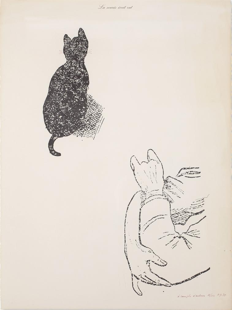 Marcel Broodthaers-La Souris Ecrit Rat (A Compte Dauteur) (The Mouse Writes Rat (At The Authors Expense))-1974
