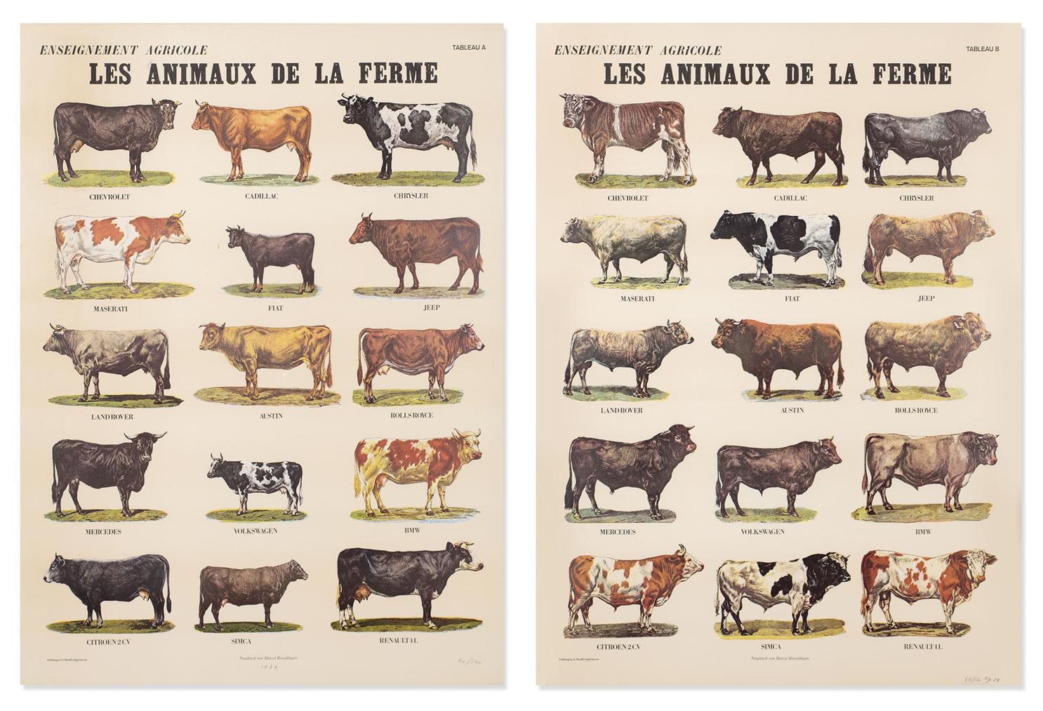 Marcel Broodthaers-Les Animaux De La Ferme (The Farm Animals)-1974