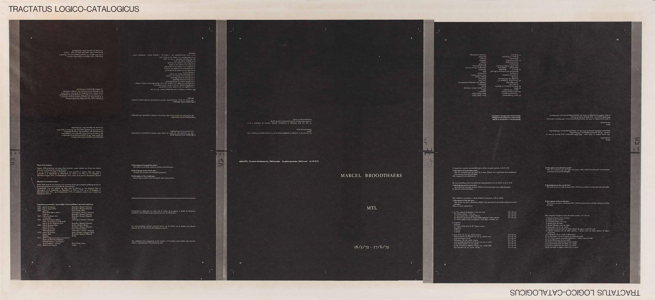 Marcel Broodthaers-Tractatus Logico-Catalogicus-1972