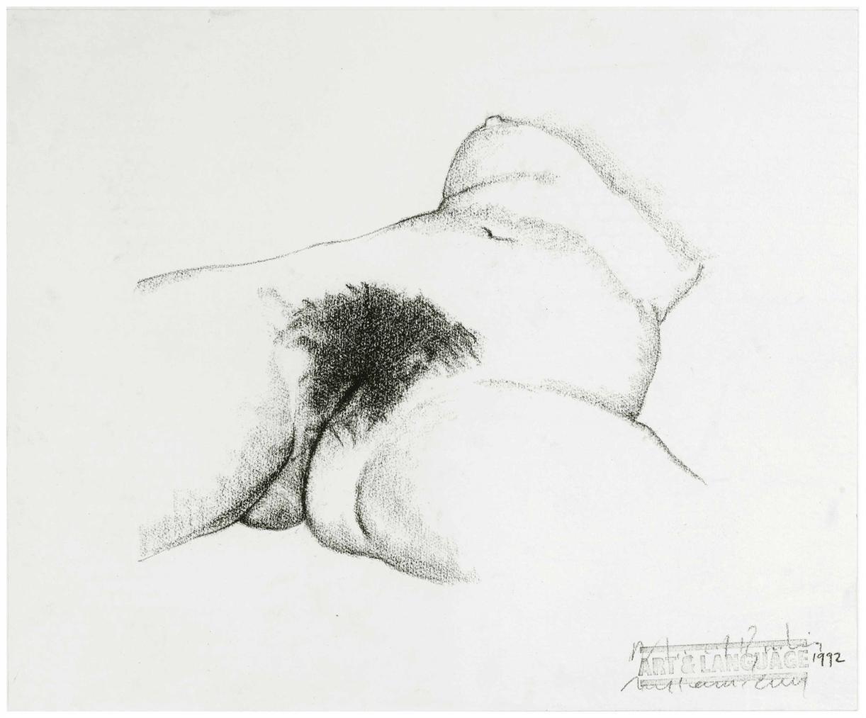 Art & Language-Study After Gustave Courbets Lorigine Du Monde-1992