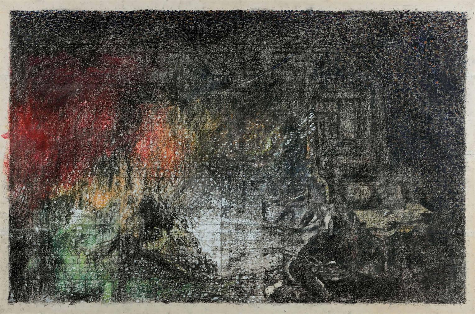 Art & Language-Study For Index: Incident In A Museum (2)-1984