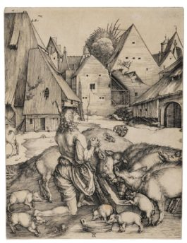 Albrecht Durer-The Prodigal Son (B., M., Holl. 28; S.M.S. 9), 1496
