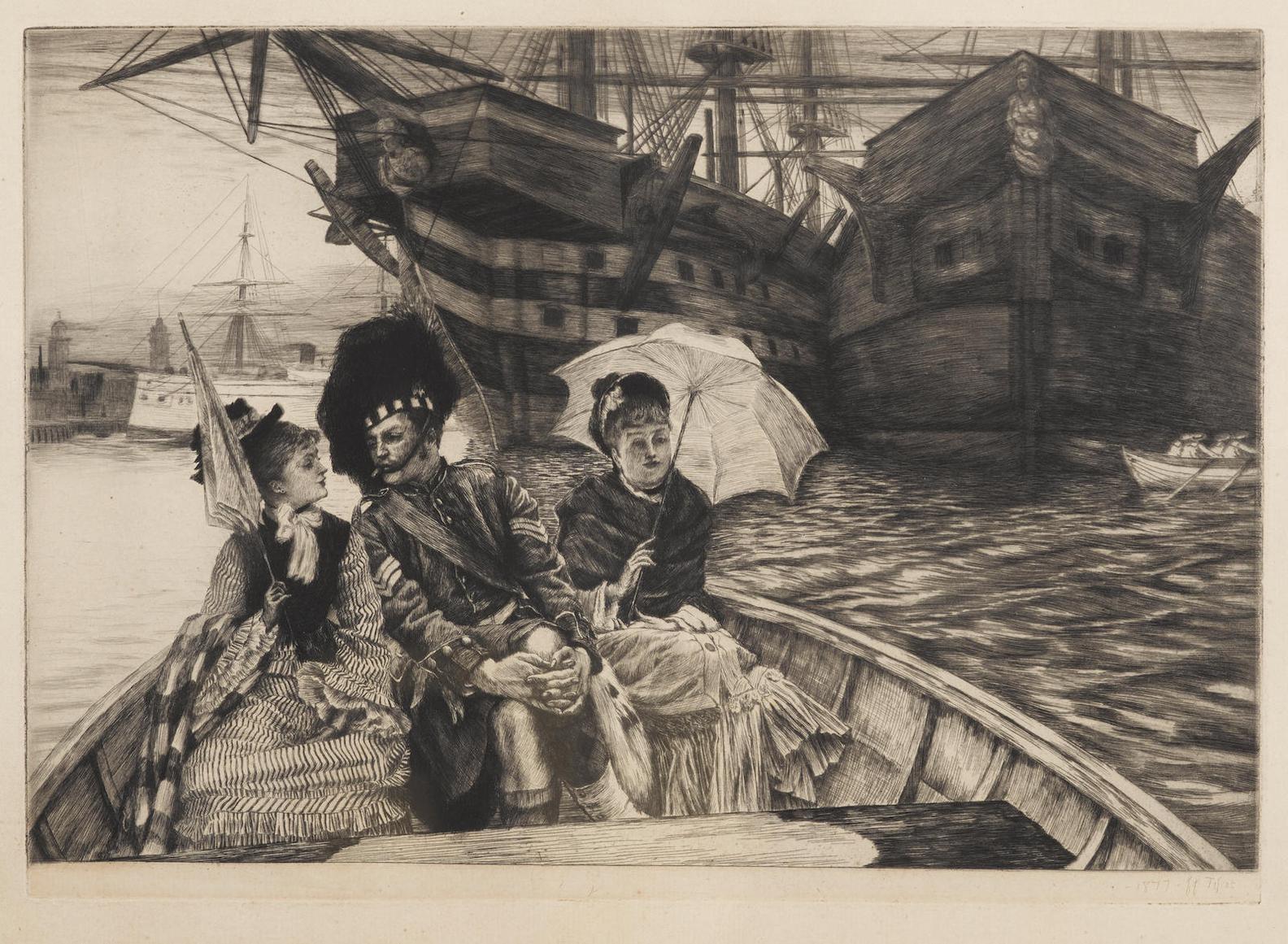 James Jacques Joseph Tissot-Entre Les Deux Mon Coeur Balance (W. 30)-1877