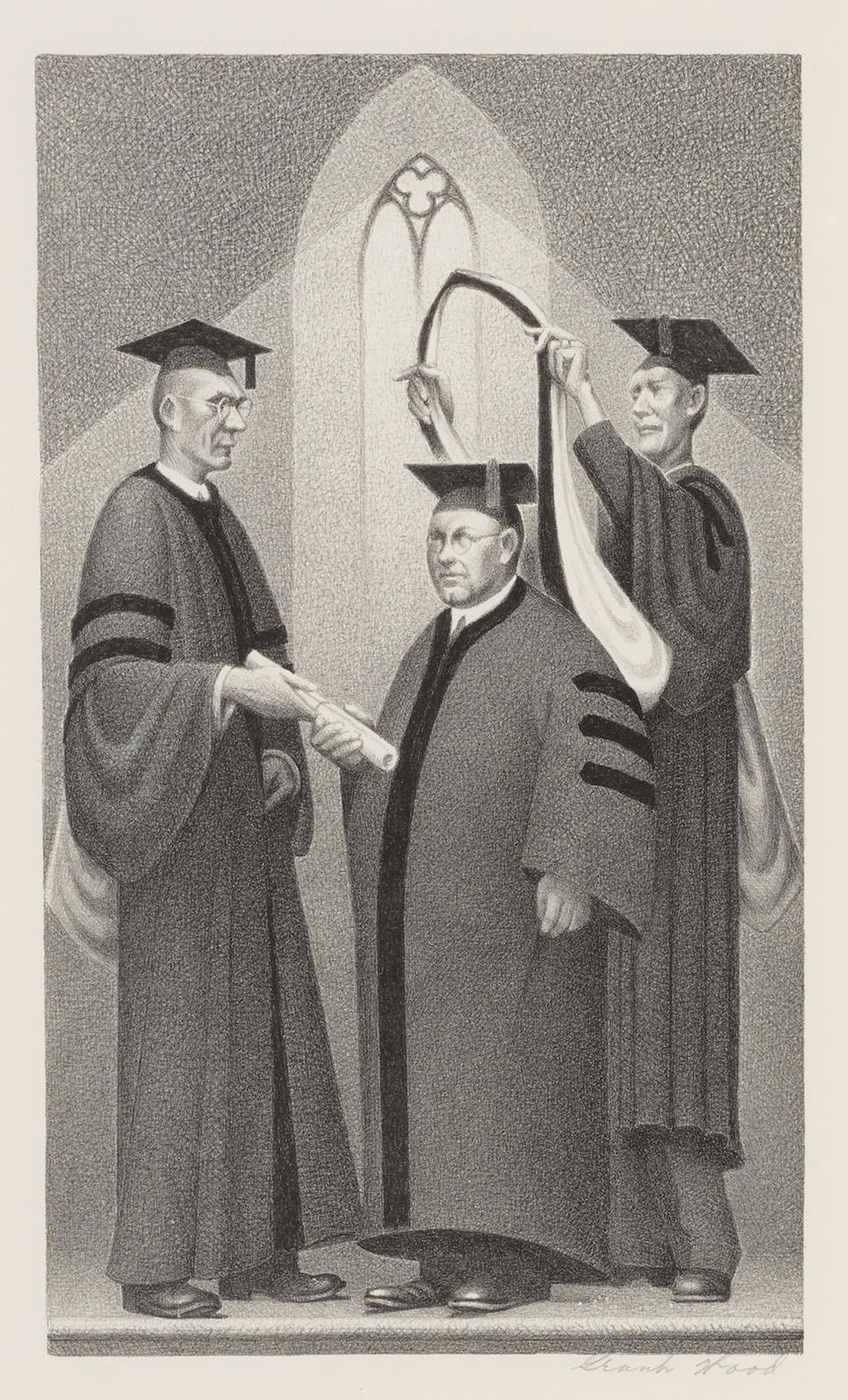 Grant Wood-Honorary Degree (C. 4)-1938