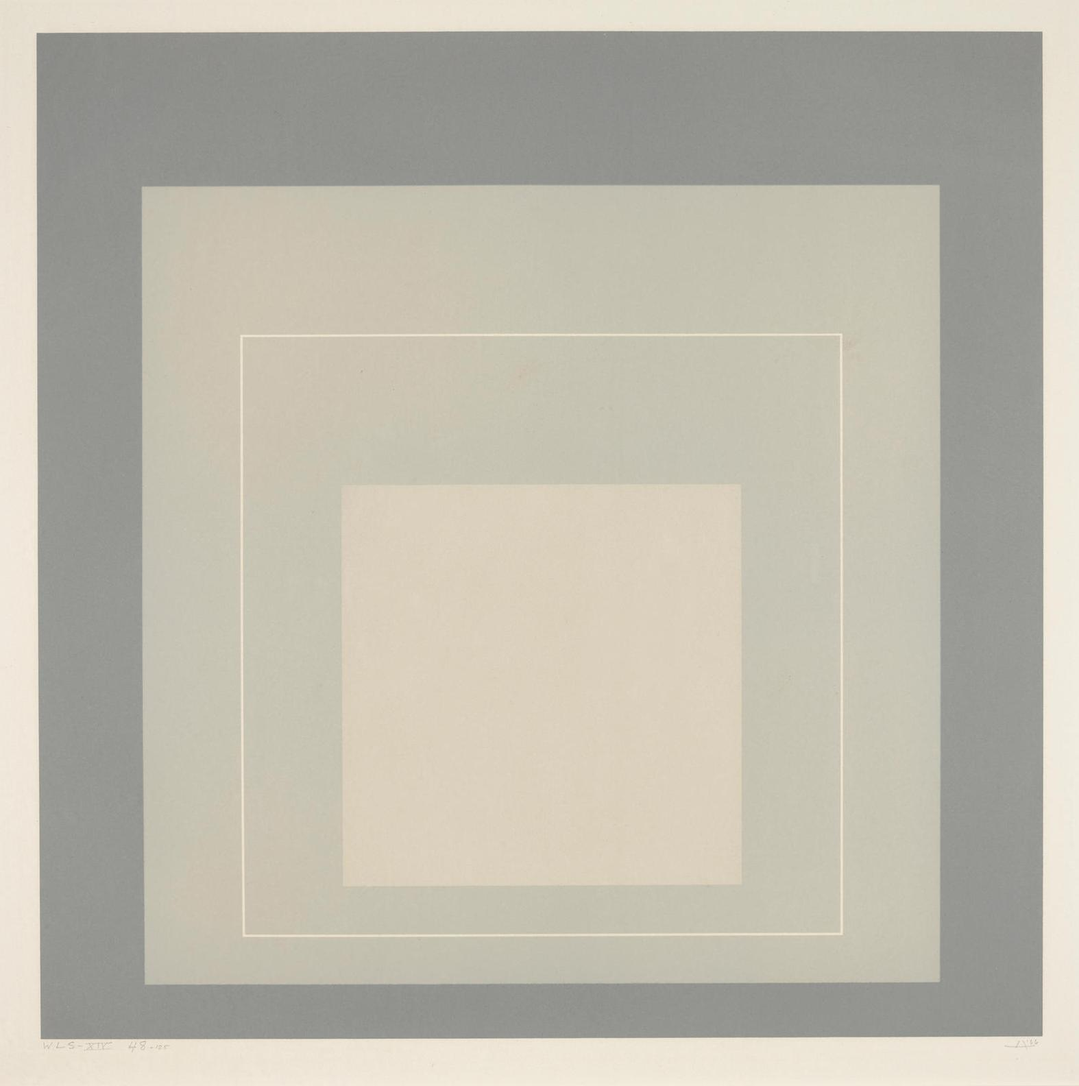 Josef Albers-Wls Xiv, From The White Line Squares (Series II) (D. 172.6)-1966