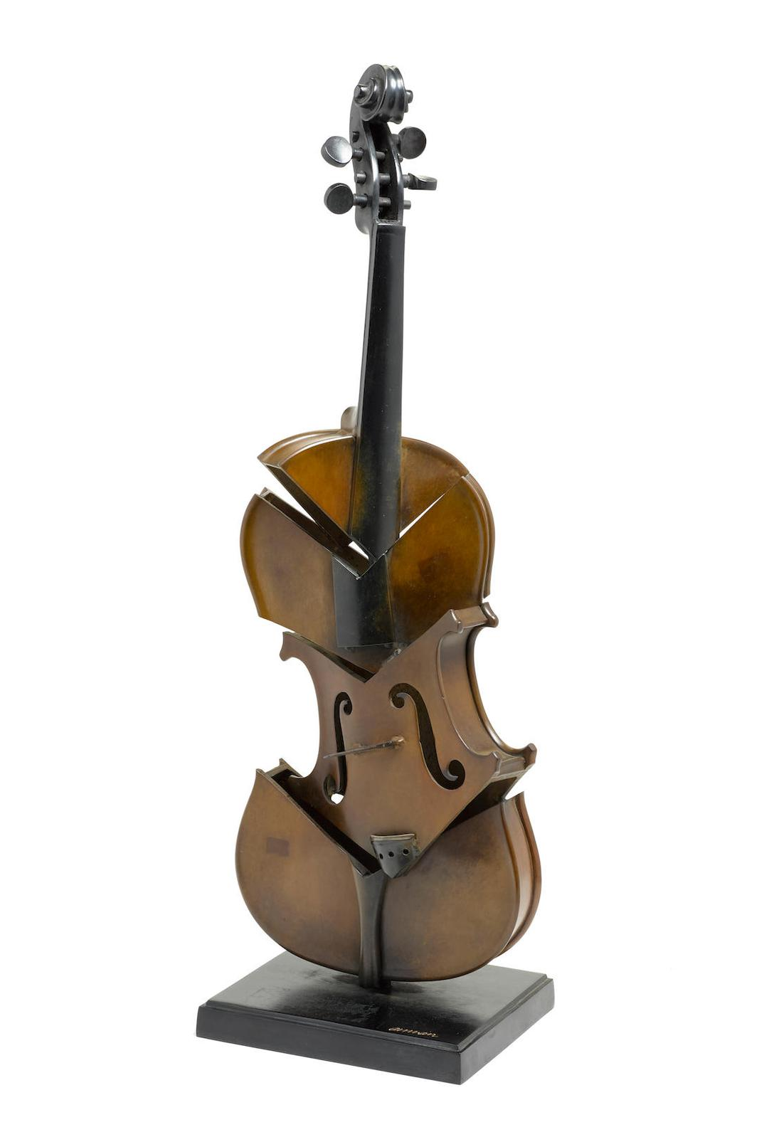 Arman-Violon Coupe II (Hommage A Picasso)-2004