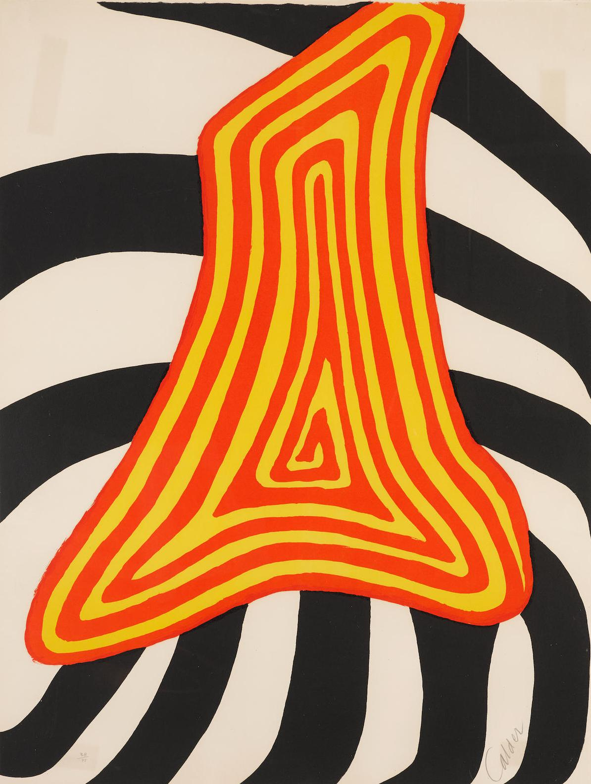 Alexander Calder-Zebre Jaune Et Zebre Noir-1976