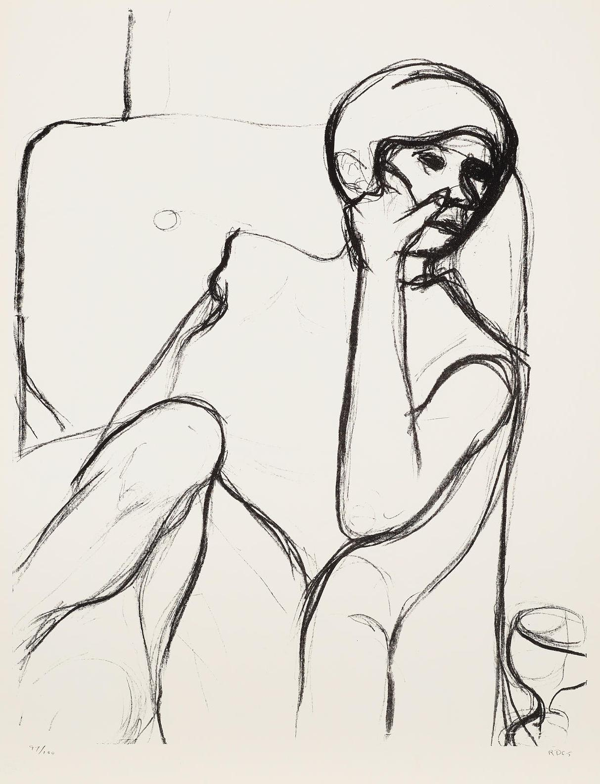 Richard Diebenkorn-Seated Woman In An Armchair, From Seated Woman Series-1965