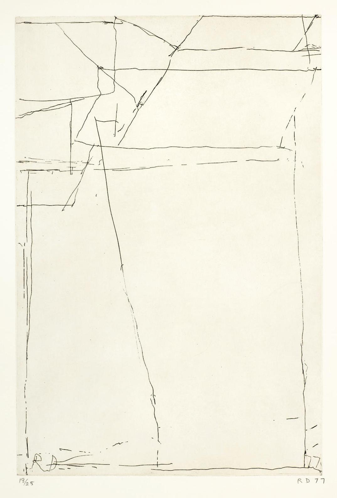 Richard Diebenkorn-#8, From Nine Drypoints And Etchings-1977