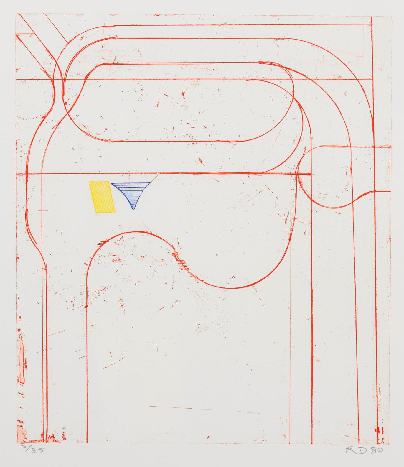 Richard Diebenkorn-Construct (Red)-1980