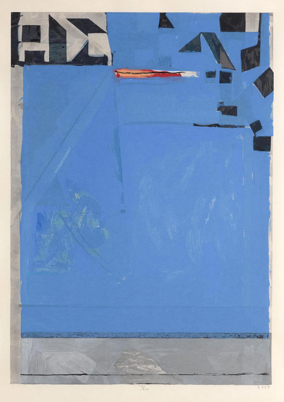 Richard Diebenkorn-Blue With Red-1987