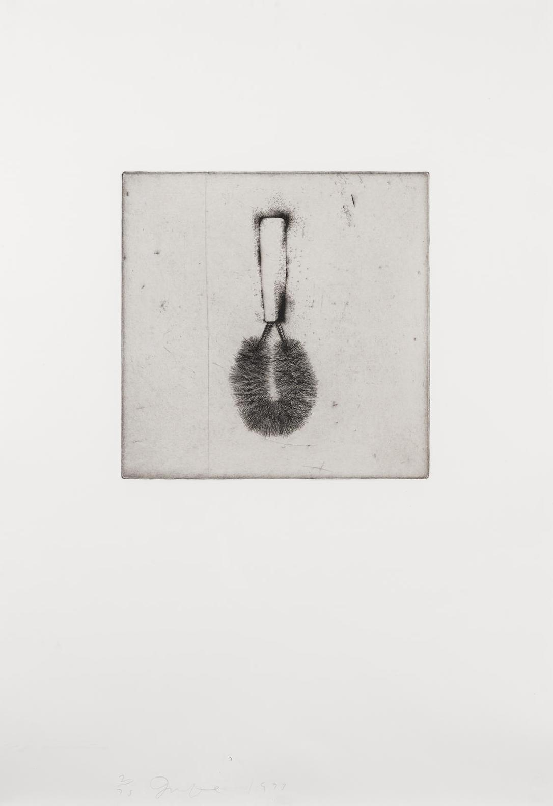 Jim Dine-Wire Brush, From Four German Brushes-1973