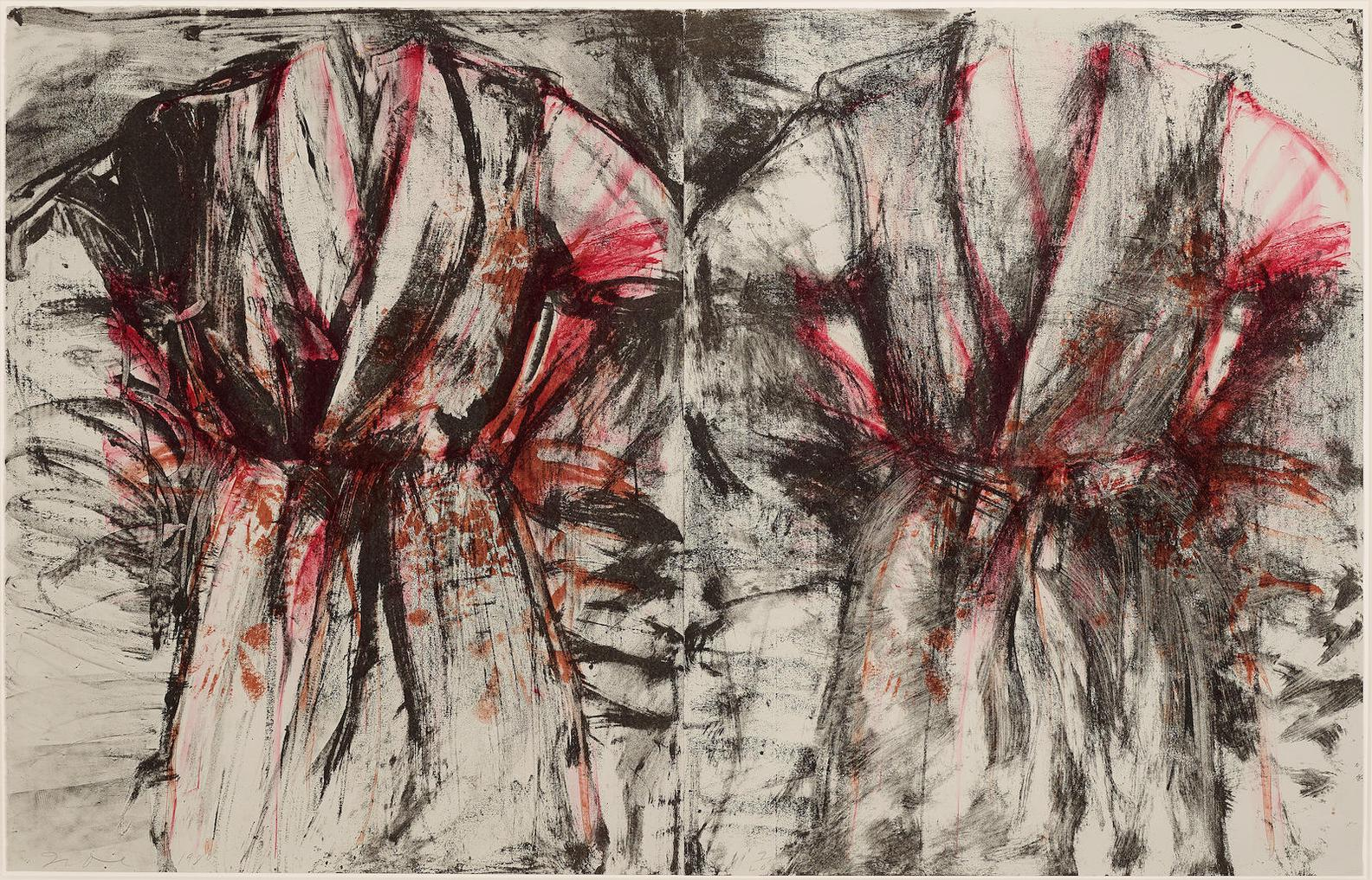 Jim Dine-Red And Black Diptych Robe (Do./F. 63)-1980