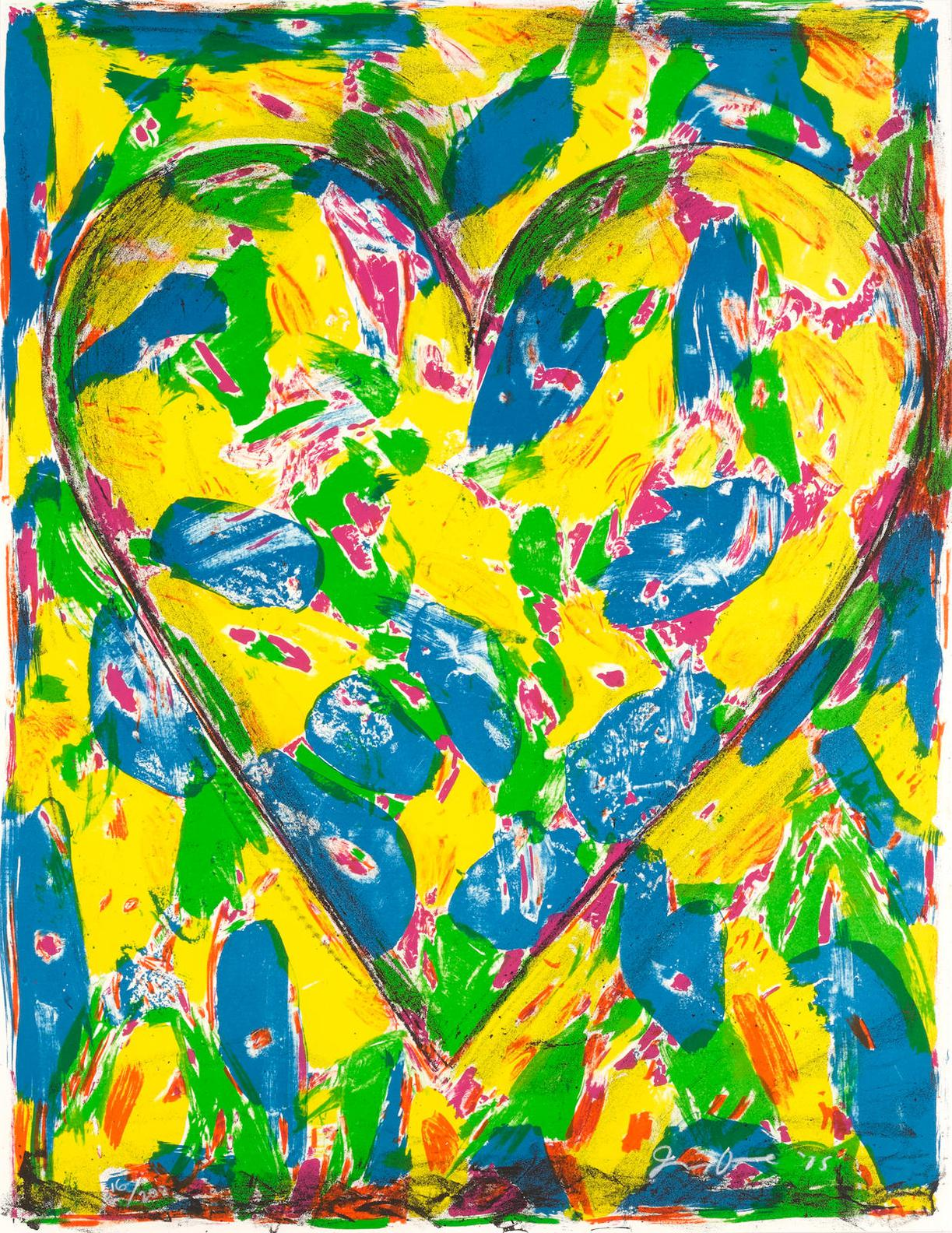 Jim Dine-The Blue Heart, From 2005 Suite-2005