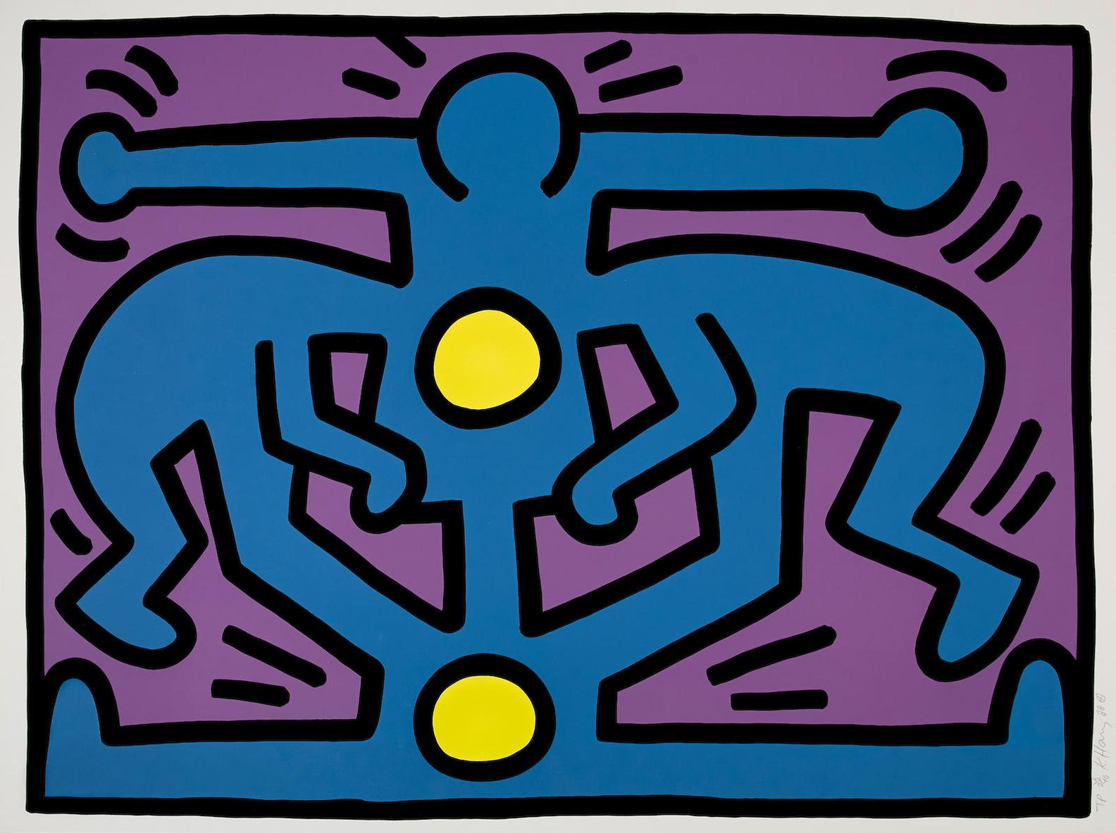 Keith Haring-Growing #2, From Growing Suite (L. P. 90)-1988