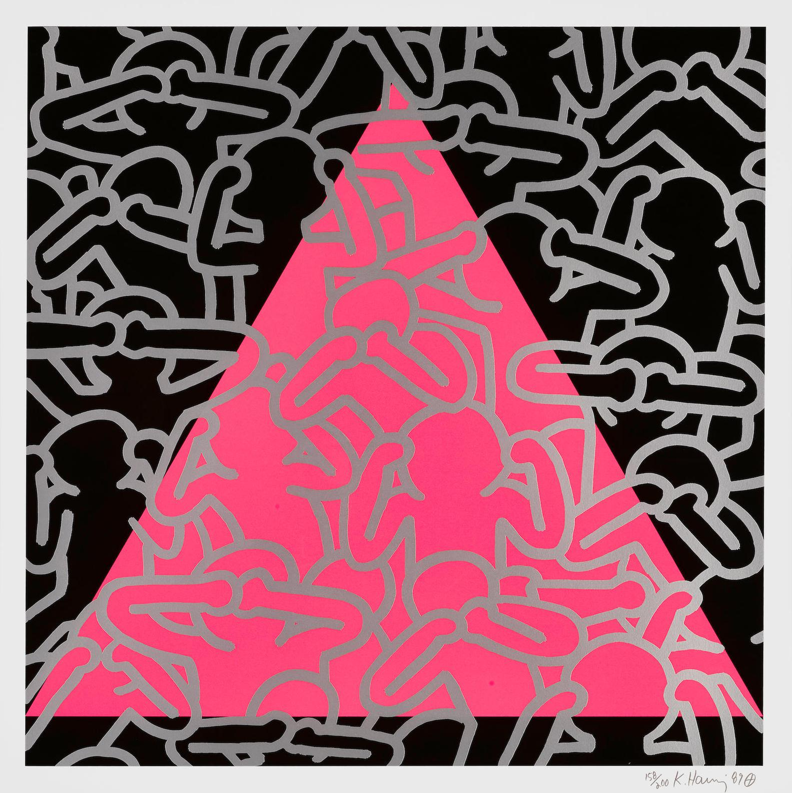 Keith Haring-Silence = Death (L. P. 152)-1989