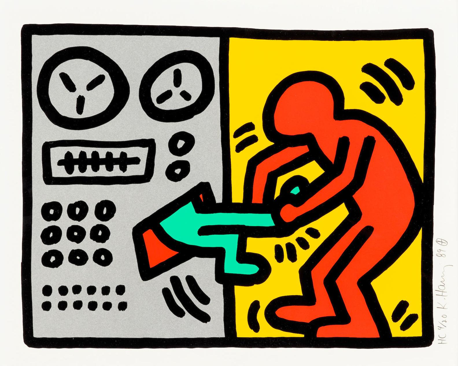 Keith Haring-Pop Shop Iii: One Plate (L. P. 145)-1989