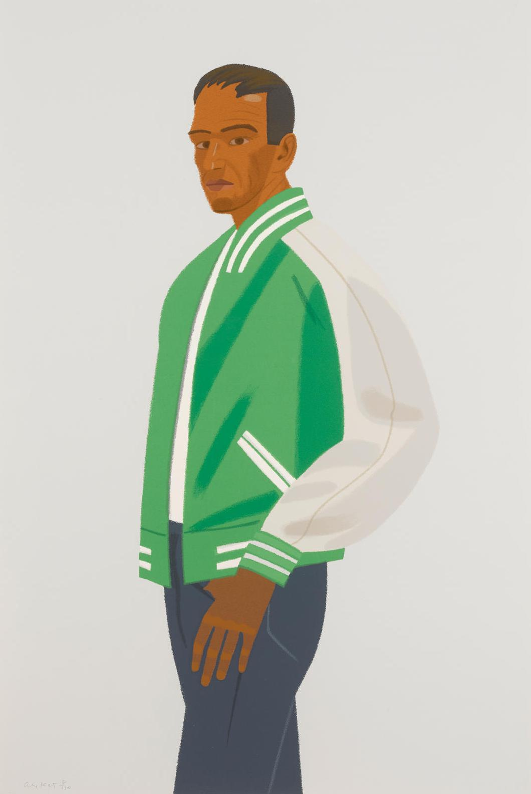 Alex Katz-Sweatshirt Ii And Green Jacket, From Alex And Ada The 1960s To The 1980s-1990