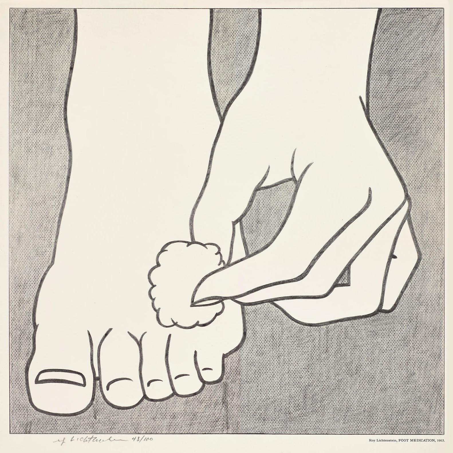 Roy Lichtenstein-Foot Medication Poster (C.App. 3)-1963