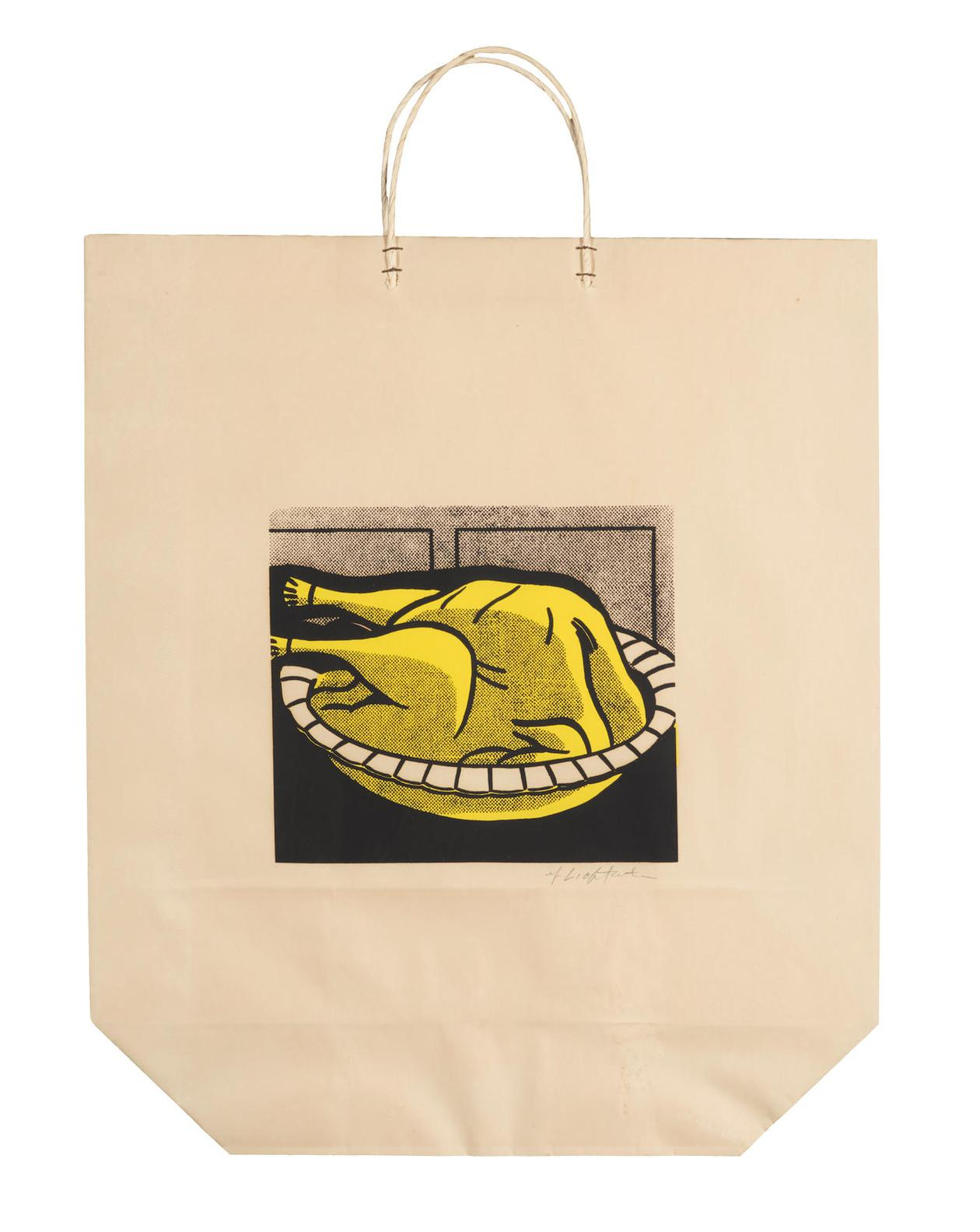 Roy Lichtenstein-Turkey Shopping Bag (C.App. 4)-1964