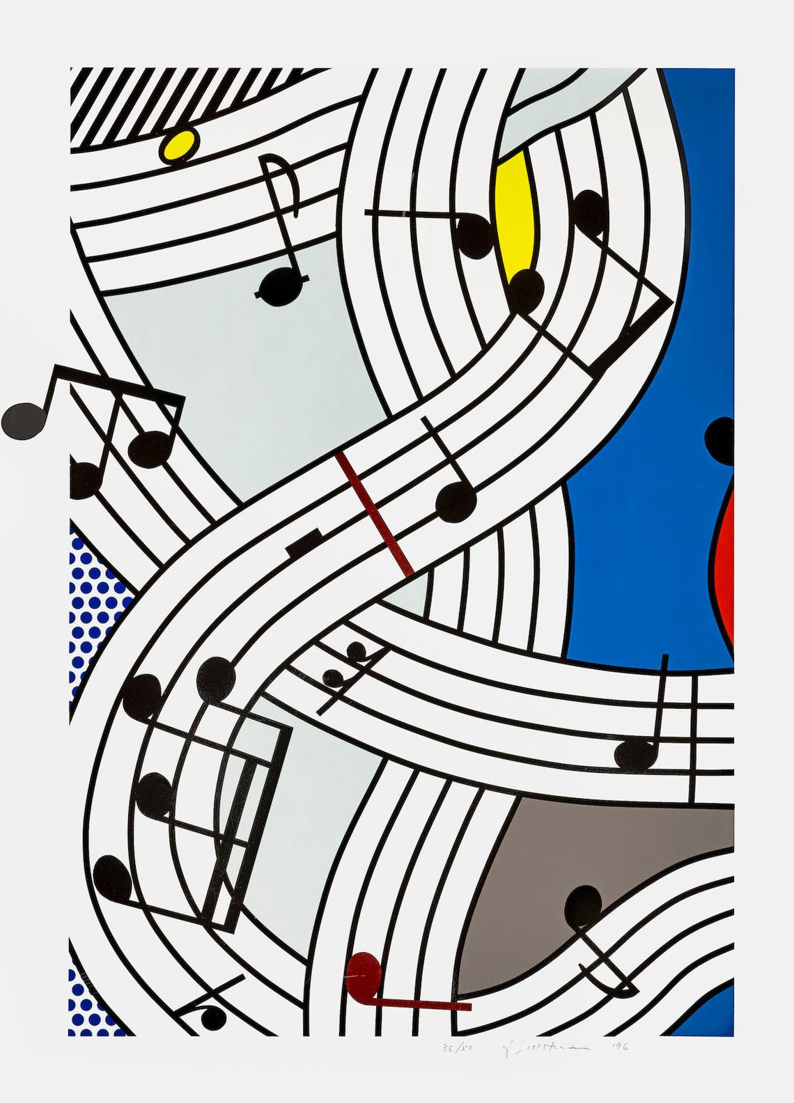 Roy Lichtenstein-Composition I (C. 297; G. 1668)-1996