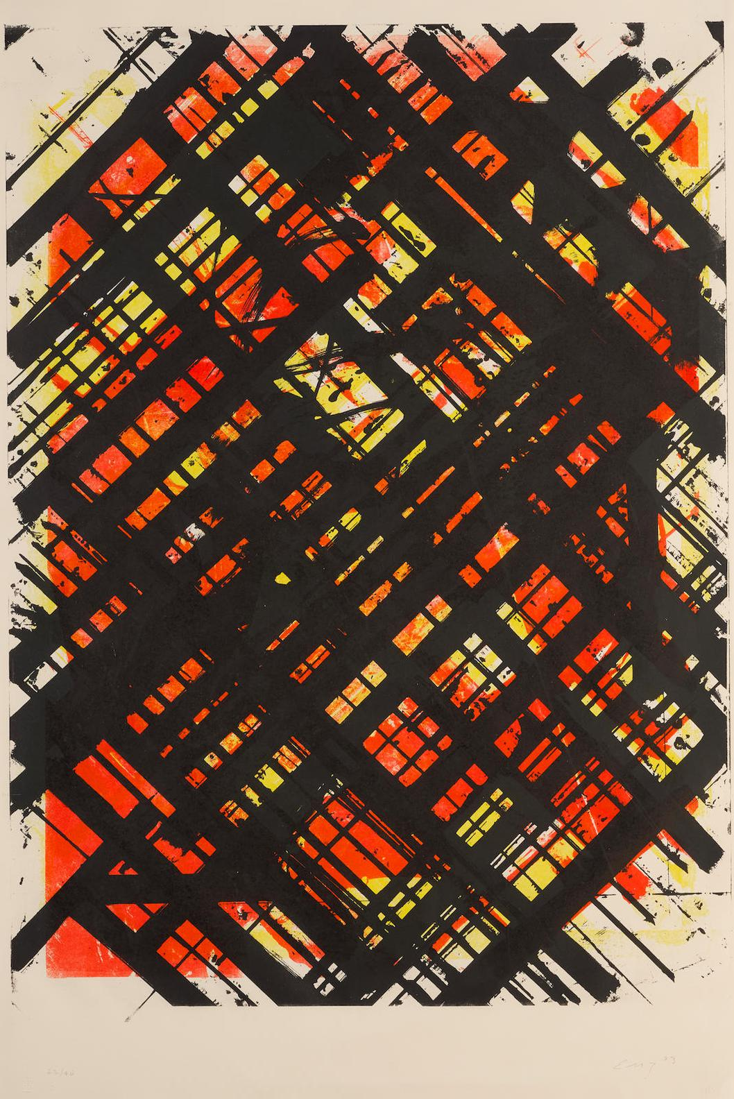 Ed Moses-Untitled (Abstract Patterns)-1983