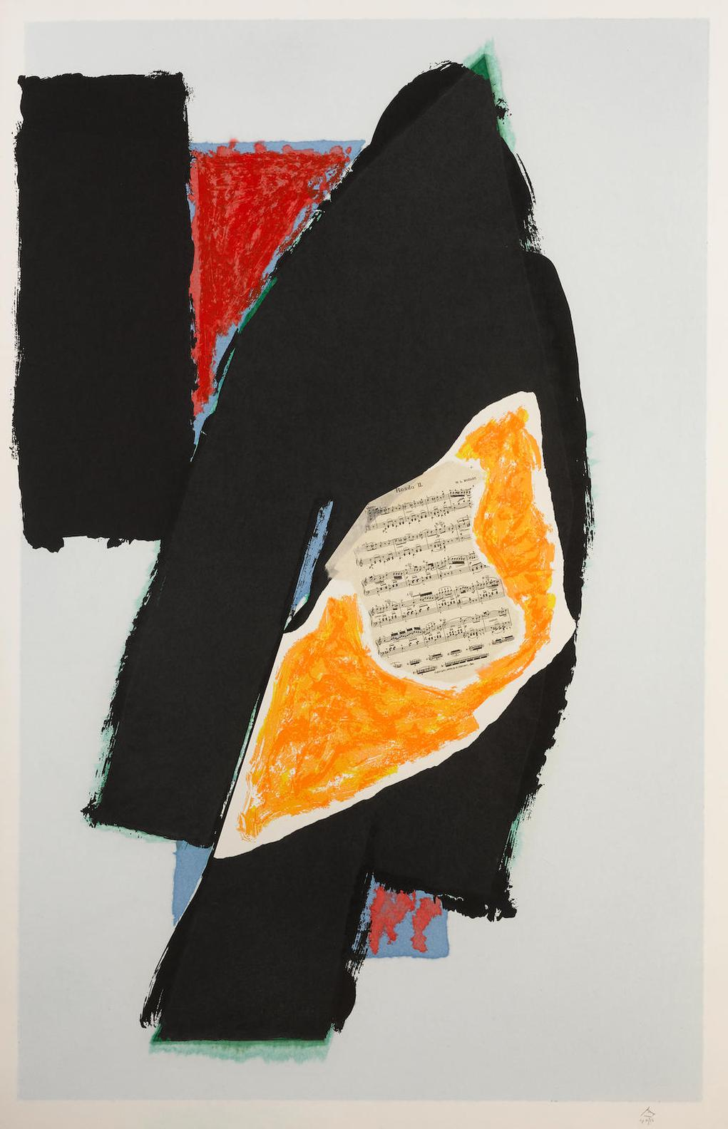 Robert Motherwell-Black For Mozart (E. & B. 521)-1991