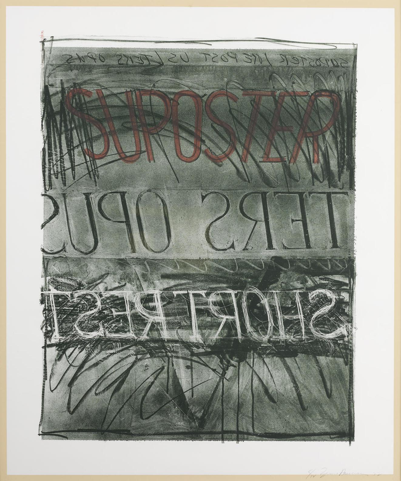 Bruce Nauman-Suposter (C. 12; G. 403)-1973