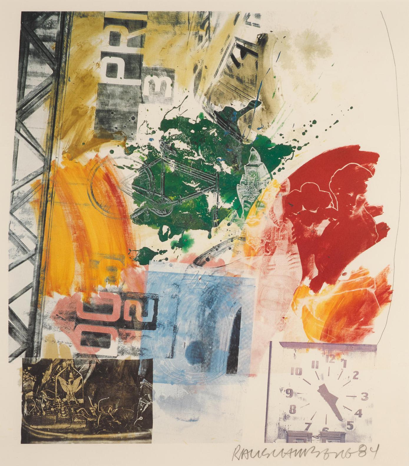 Robert Rauschenberg-Untitled (Roci Announcement)-1984