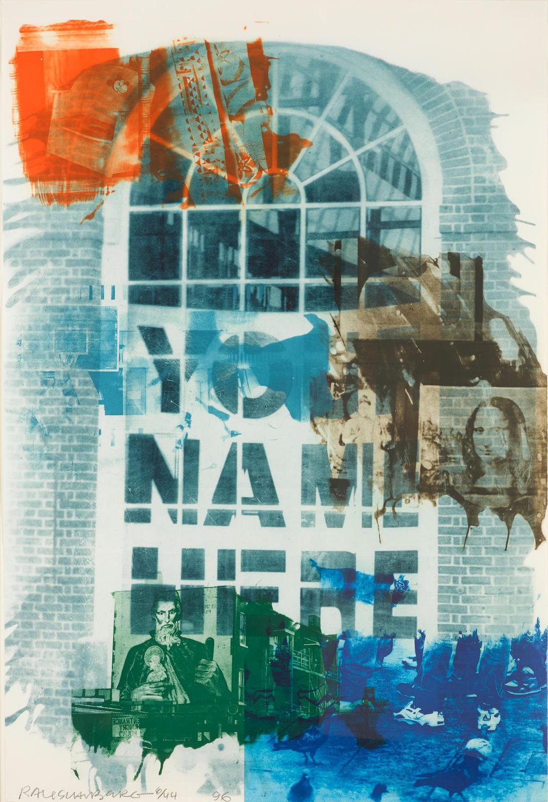 Robert Rauschenberg-Banco, From Ground Rules-1996