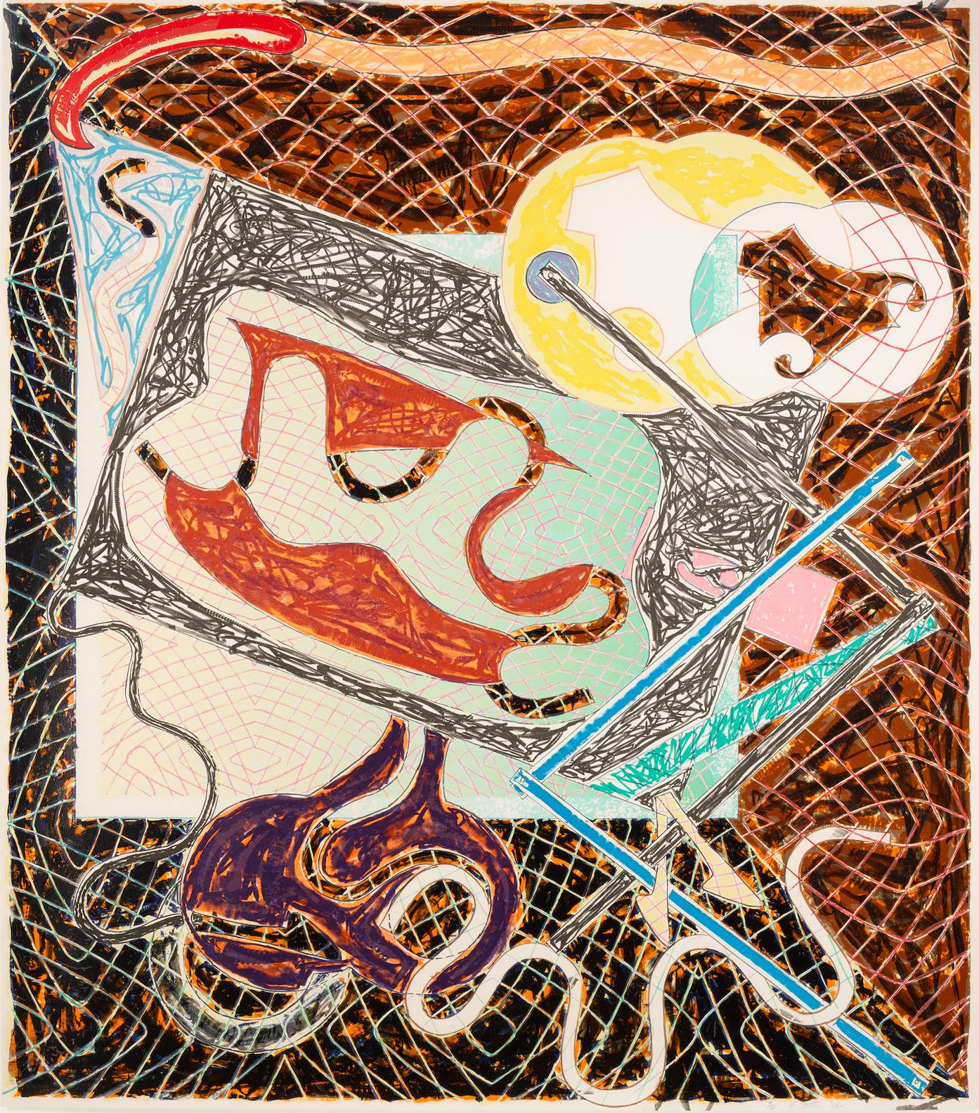 Frank Stella-Shards III (A. 146)-1982