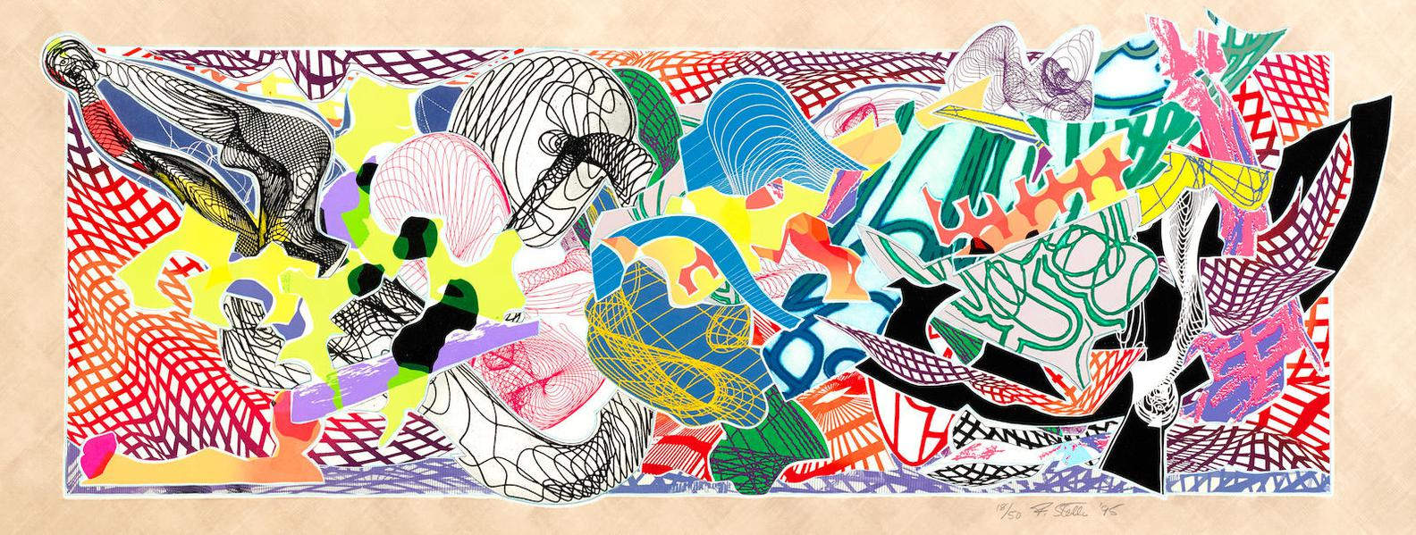 Frank Stella-Despairia, From Imaginary Places (A. 231)-1995