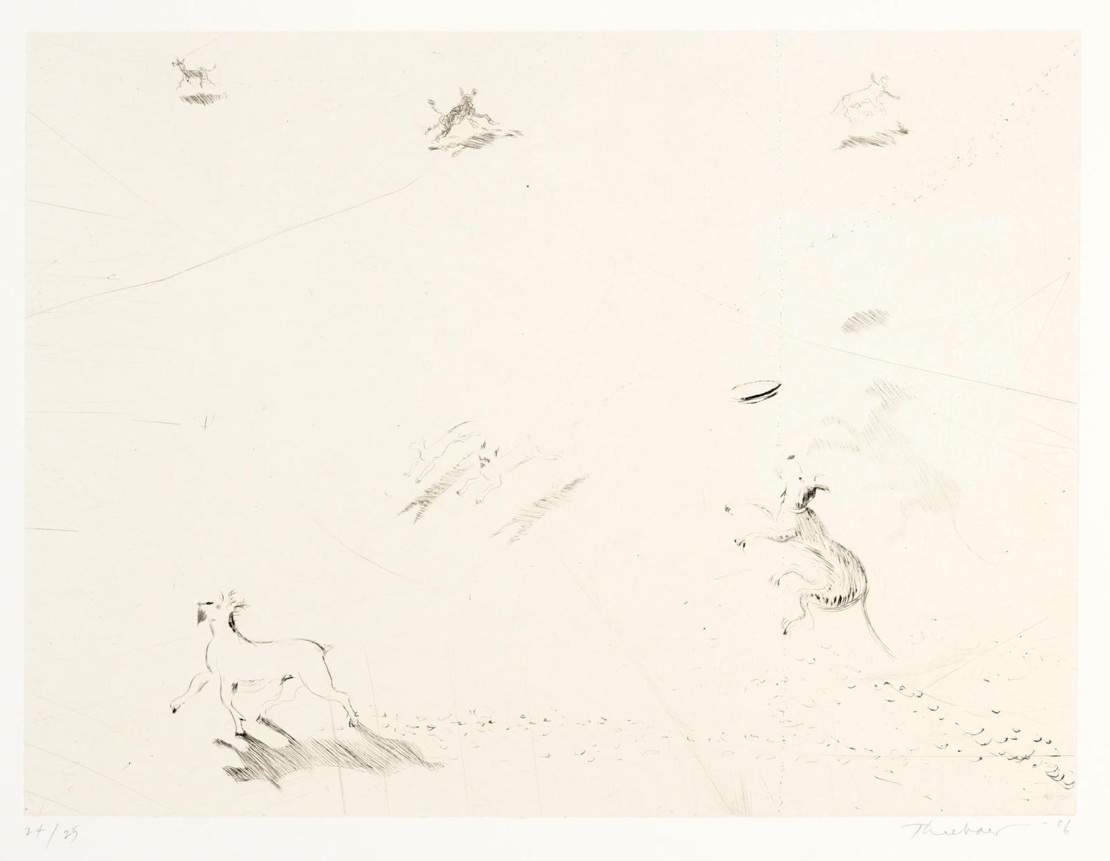 Wayne Thiebaud-Seven Dogs-2006