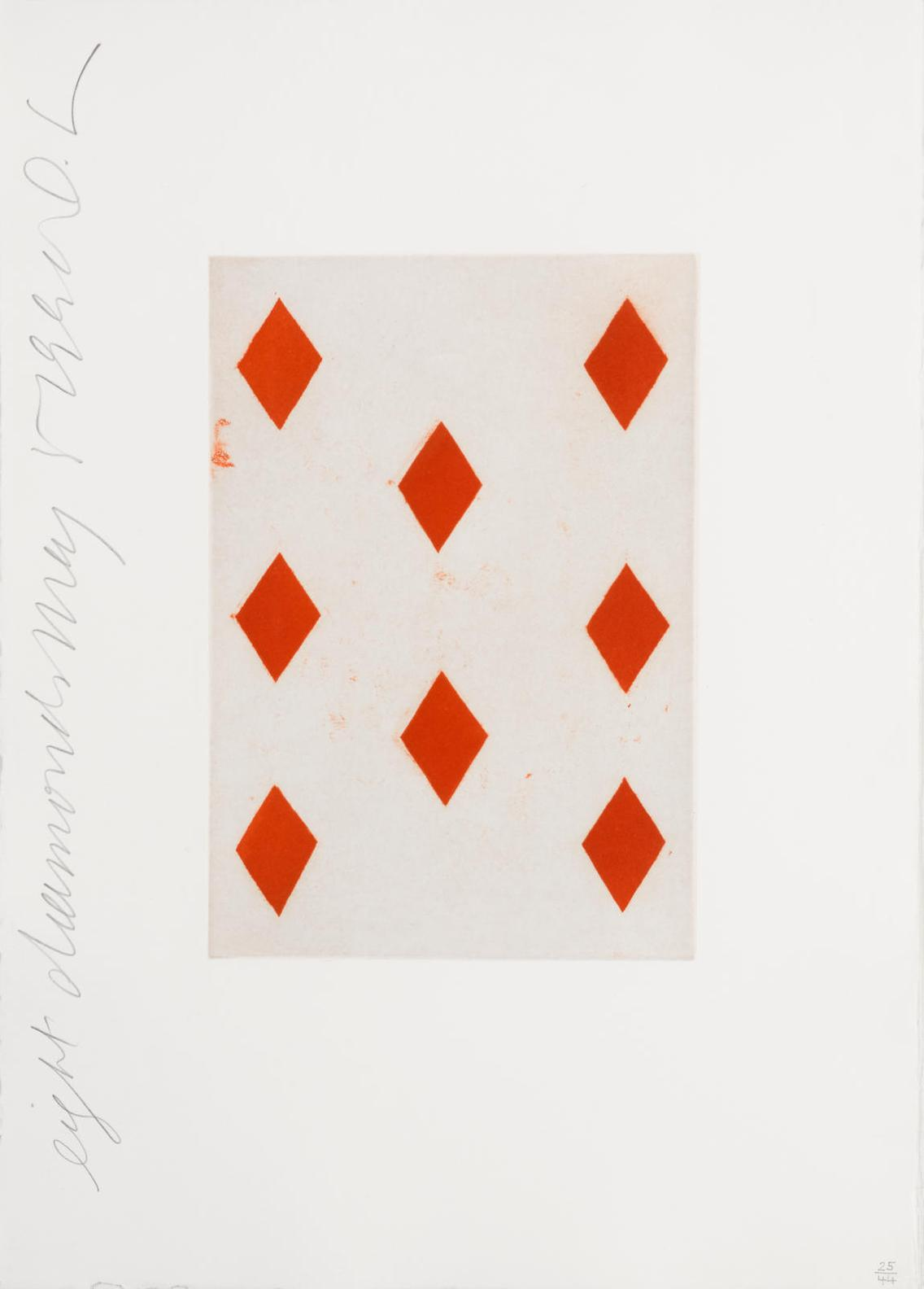 Donald Sultan-Eight Of Diamonds And Five Of Clubs, From Playing Cards-1990