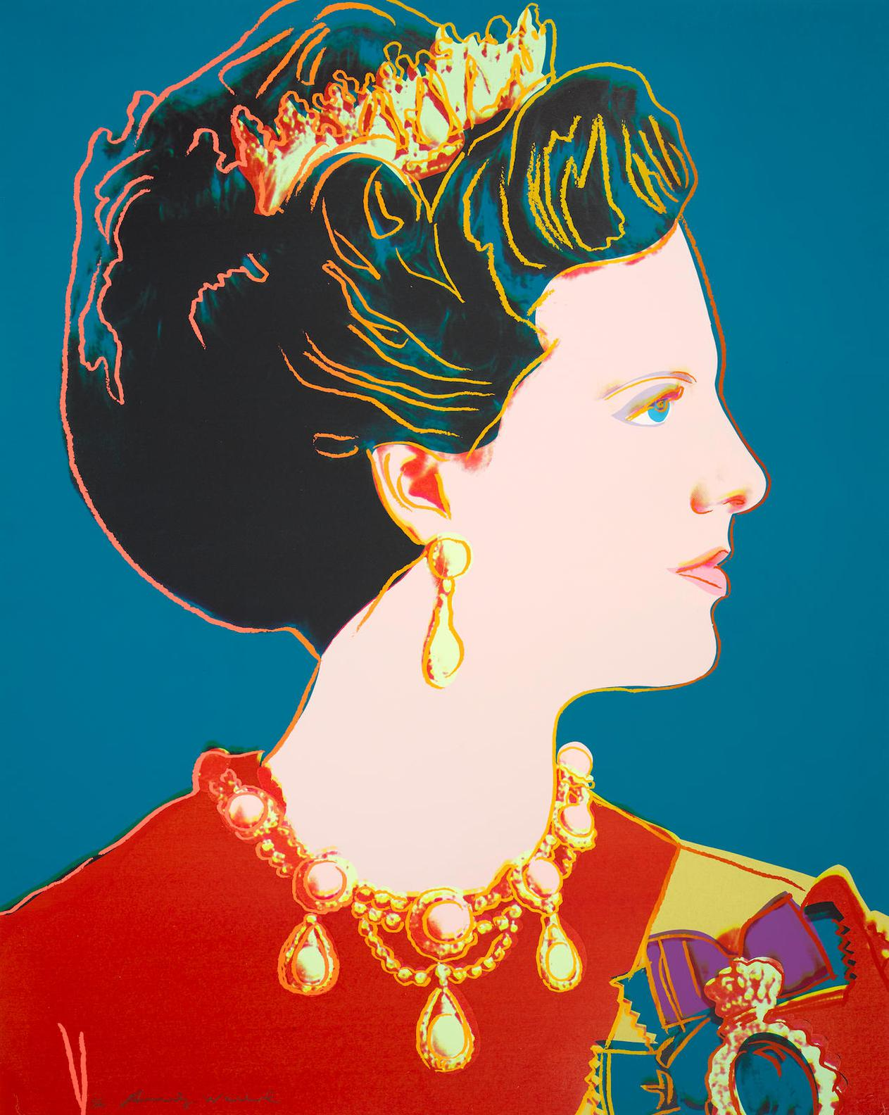 Andy Warhol-Queen Margrethe II Of Denmark, From Reigning Queens (F./S. II.343)-1985