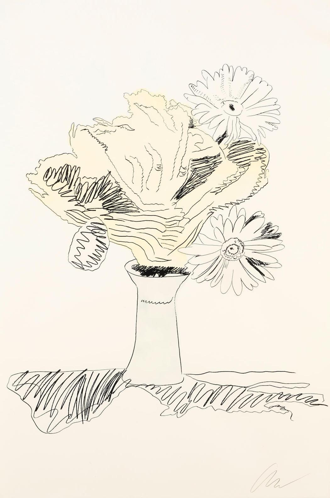 Andy Warhol-Flowers (Hand-Colored) (F./S. II.113)-1974