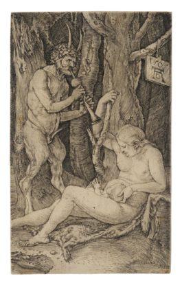 Albrecht Durer-The Satyrs Family (B. 69; M., Holl. 65; S.M.S. 44), 1505