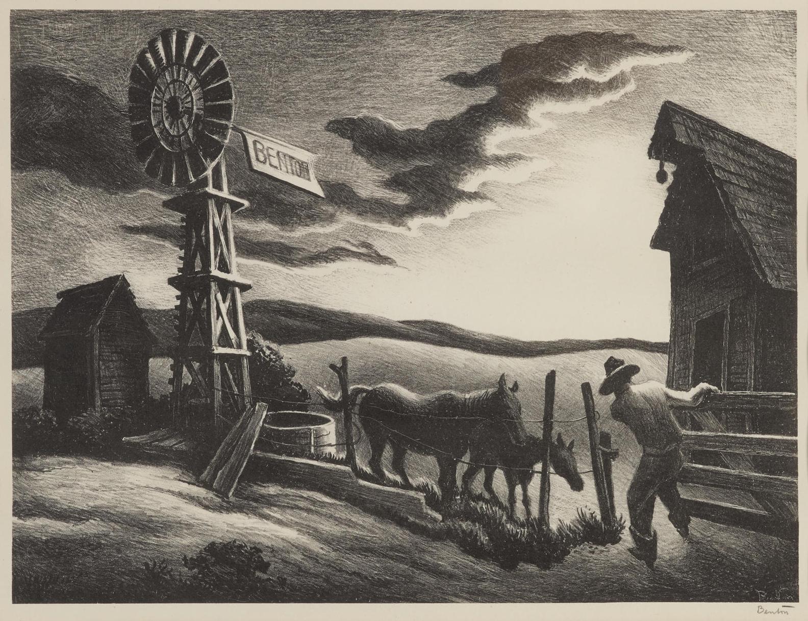 Thomas Hart Benton-Nebraska Evening (F. 45)-1941