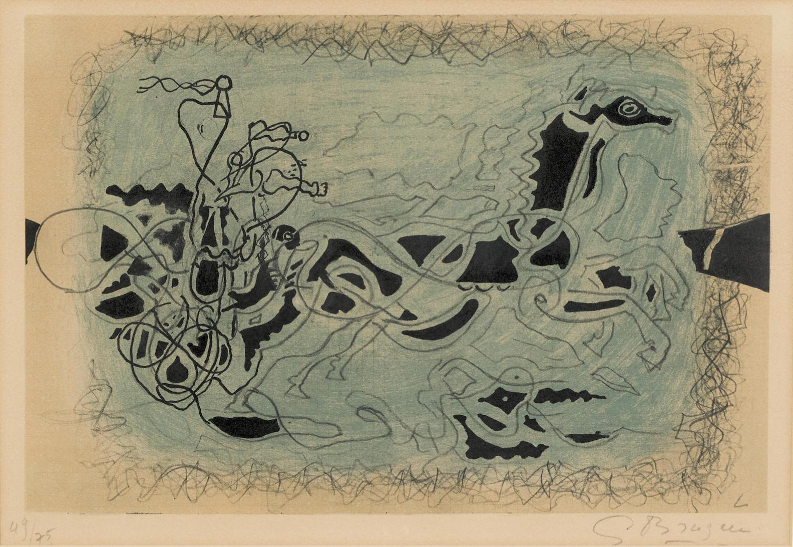Georges Braque-Untitled, From Carnets Intimes De Georges Braque-1955